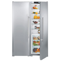 LIEBHERR 707L SMART STEEL SBS PAIR - SBSes7253 - FULL FRIDGE WITH BIOFRESH & FREEZER