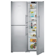 LIEBHERR 726L SMART STEEL SBS PAIR - SBSes7353 - FULL FRIDGE & HALF FREEZER/FRIDGE WITH BIO FRESH
