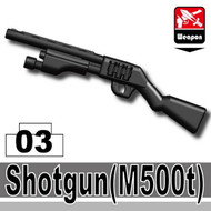 Police Shotgun with tactical light (black, M500t)