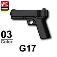 Minifigure scale Glock 17 9mm handgun