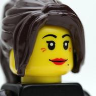 Female Head - brunette - listening