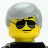 Male Head - grey hair - sunglasses