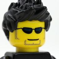 Male Head - spiky black hair - sunglasses