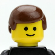 Male Head - brown hair - Officer Smiles