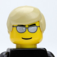 Male Head -  blonde hair - chrome sunglasses