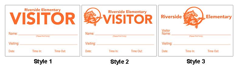 Custom visitor badge styles