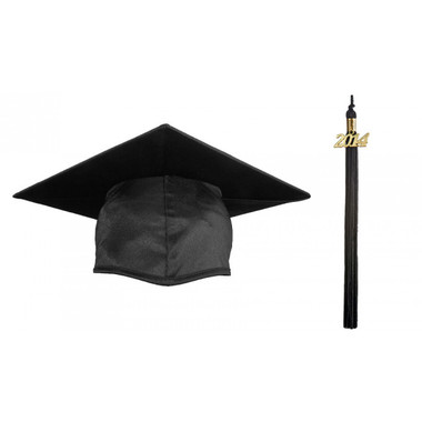 Shown is matte black cap & tassel package (Cool School Studios 0119).