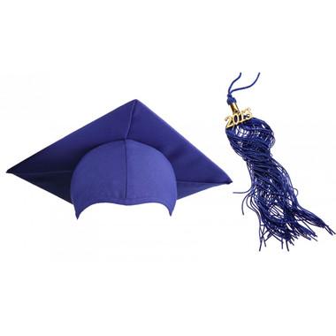 Shown is matte royal blue cap & tassel package (Cool School Studios 0121).