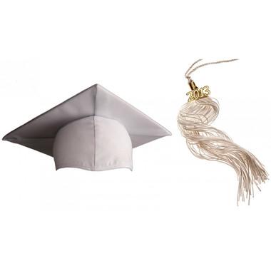 Shown is matte white cap & tassel package (Cool School Studios 0122).
