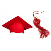 Shown is matte red cap & tassel package (Cool School Studios 0124).