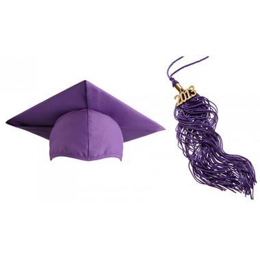 Shown is matte purple cap & tassel package (Cool School Studios 0128).