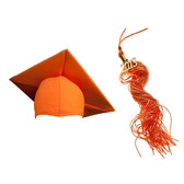 Shown is matte orange cap & tassel package (Cool School Studios 0131).