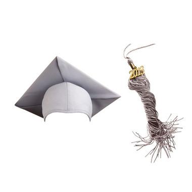 Shown is matte silver cap & tassel package (Cool School Studios 0132).