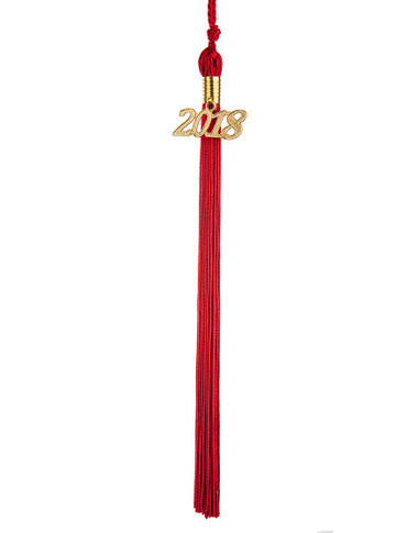 Shown is the Red Graduation Tassel (Cool School Studios 0035), full view.