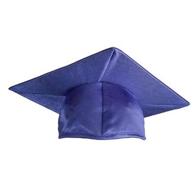Shown is shiny royal blue cap (Cool School Studios 0050), front view.
