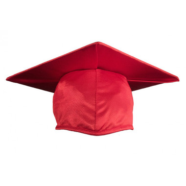 Shown is shiny red cap (Cool School Studios 0052), front view.