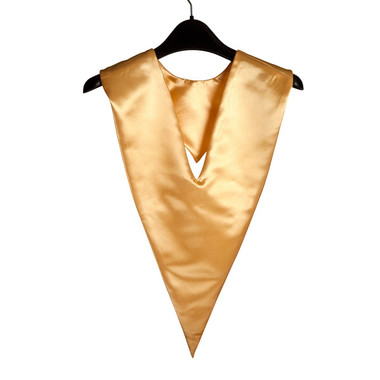 Shown is gold v-stole (Cool School Studios 0091), front view.