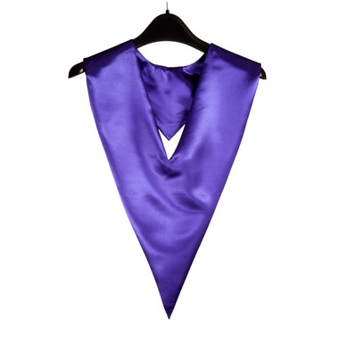 Shown is purple v-stole (Cool School Studios 0093), front view.