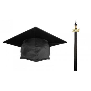 Shown is the shiny black cap & tassel (Cool School Studios 0105).