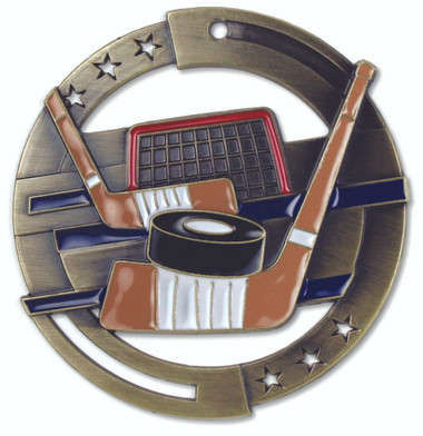 Hockey Enameled Medal from Cool School Studios.