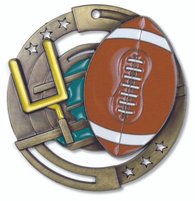 Football Enameled Medal from Cool School Studios.