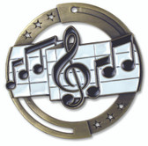 Music Enameled Medal from Cool School Studios.
