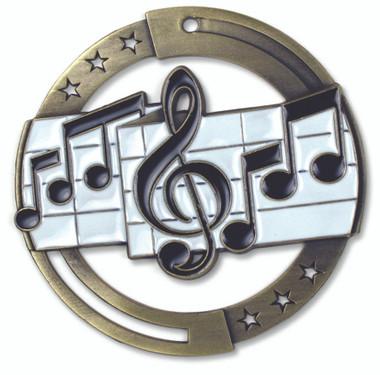Music Enameled Medal from Cool School Studios.