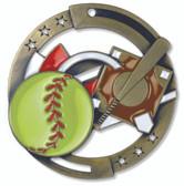 Softball Enameled Medal from Cool School Studios.