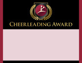 Gold Shield Cheerleading Award from Cool School Studios.