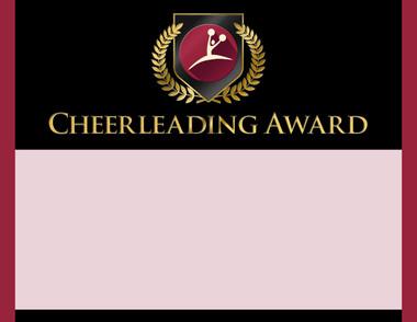 Gold Shield Cheerleading Award from Cool School Studios.