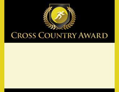 Gold Shield Cross Country Award from Cool School Studios.