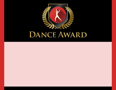 Gold Shield Dance Award from Cool School Studios.