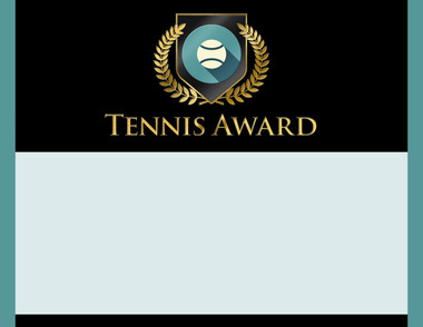 Gold Shield Tennis Award from Cool School Studios.