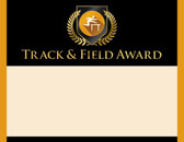 Gold Shield Track and Field Award from Cool School Studios.