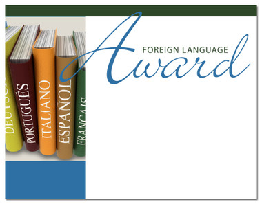 Lasting Impressions Foreign Language Award, Style 1 (Cool School Studios 02011).