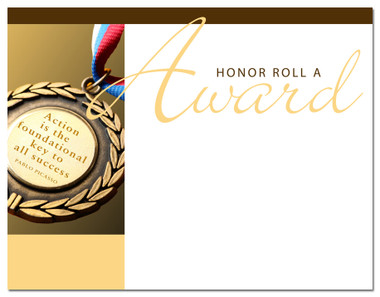 Lasting Impressions Honor Roll A Award, Style 1 (Cool School Studios 02014).