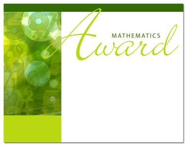 Lasting Impressions Mathematics Award, Style 1 (Cool School Studios 02017).