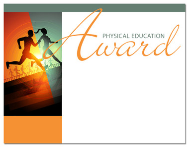 Lasting Impressions Physical Education Award, Style 1 (Cool School Studios 02021).
