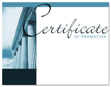 Lasting Impressions Certificate of Promotion, Style 1 (Cool School Studios 02023).