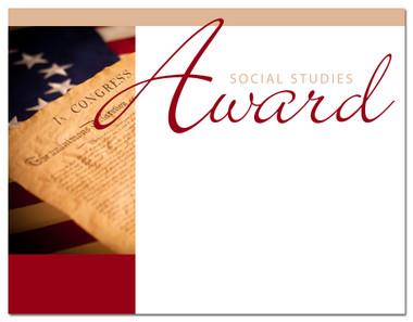 Lasting Impressions Social Studies Award, Style 1 (Cool School Studios 02029).