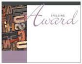 Lasting Impressions Spelling Award, Style 1 (Cool School Studios 02030).
