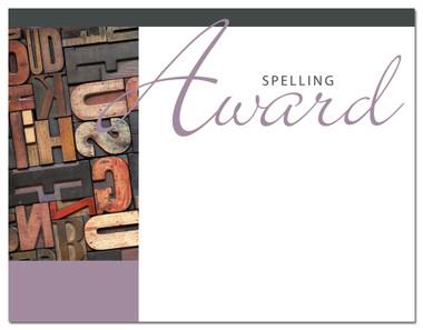 Lasting Impressions Spelling Award, Style 1 (Cool School Studios 02030).