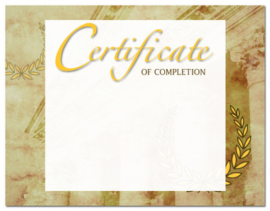 Lasting Impressions Certificate of Completion, Style 2 (Cool School Studios 02109).