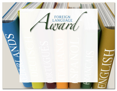 Lasting Impressions Foreign Languange Award, Style 2 (Cool School Studios 02110).