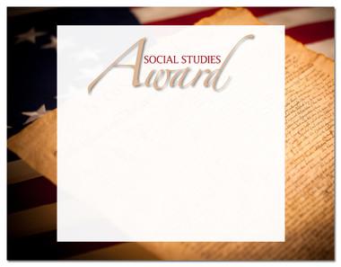 Lasting Impressions Social Studies Award, Style 2 (Cool School Studios 02128).