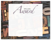 Lasting Impressions Spelling Award, Style 2 (Cool School Studios 02129).