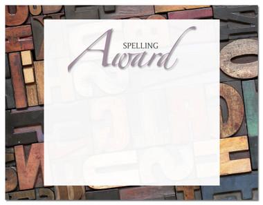 Lasting Impressions Spelling Award, Style 2 (Cool School Studios 02129).