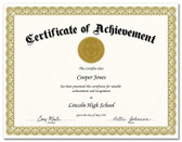 Shown is certificate border, style 2, in gold ink on parchtone paper (Cool School Studios 02203).