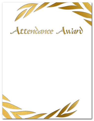 Cool School Studios' Attendance Award.