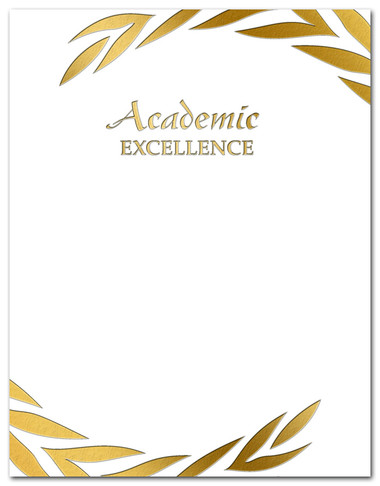 Academic Excellence Gold Foil Embossed Award from Cool School Studios.